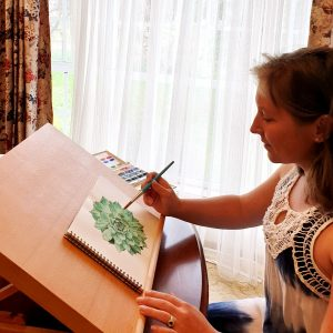 a watercolour artist